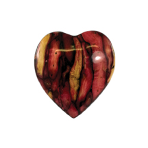 Heather Heart Brooch for Valentines