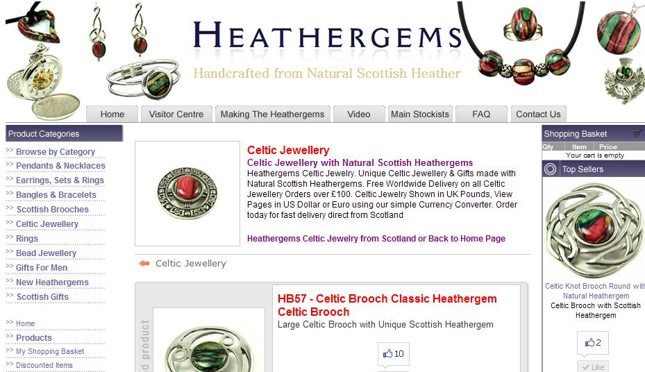 Celtic Jewelry from Heathergems Scotland