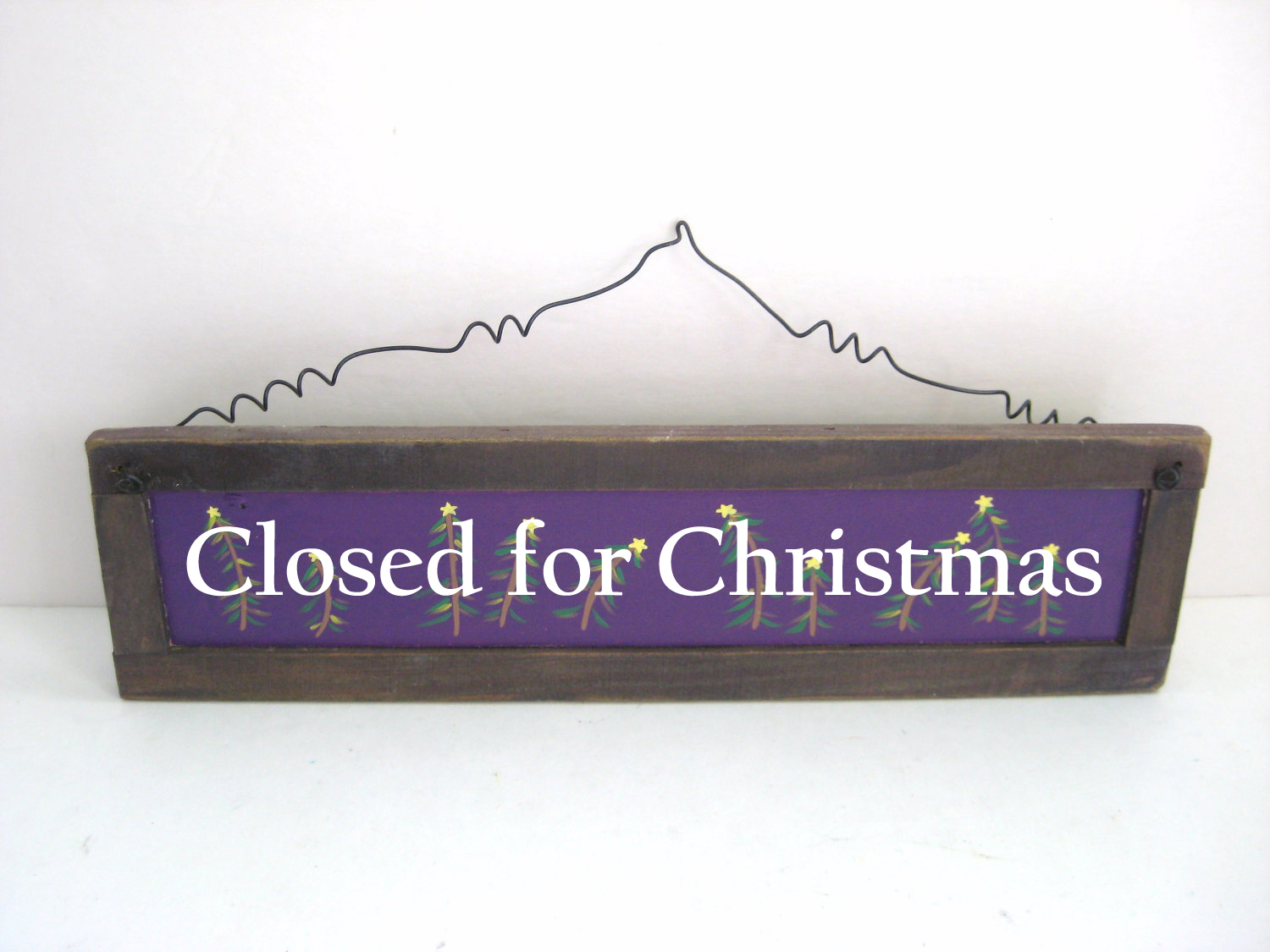 Closed for Christmas.