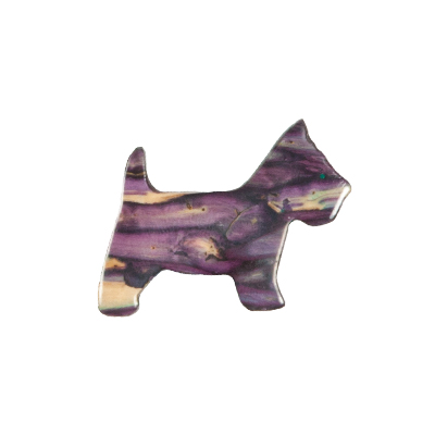 New Heathergem Scottie Dog Brooch