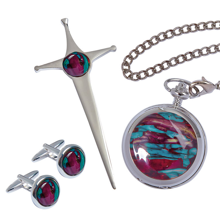 3 Piece Quartz Pocket Watch Set