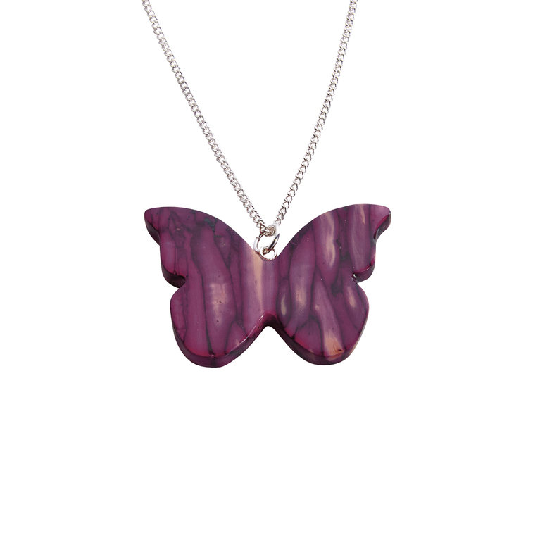 Butterfly Heather Pendant