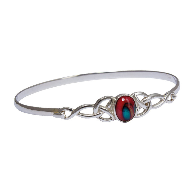 Celtic Silver Bangle