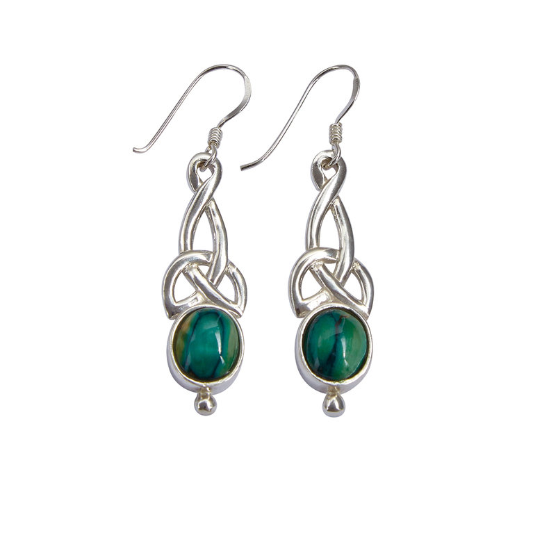 Celtic Silver Earrings