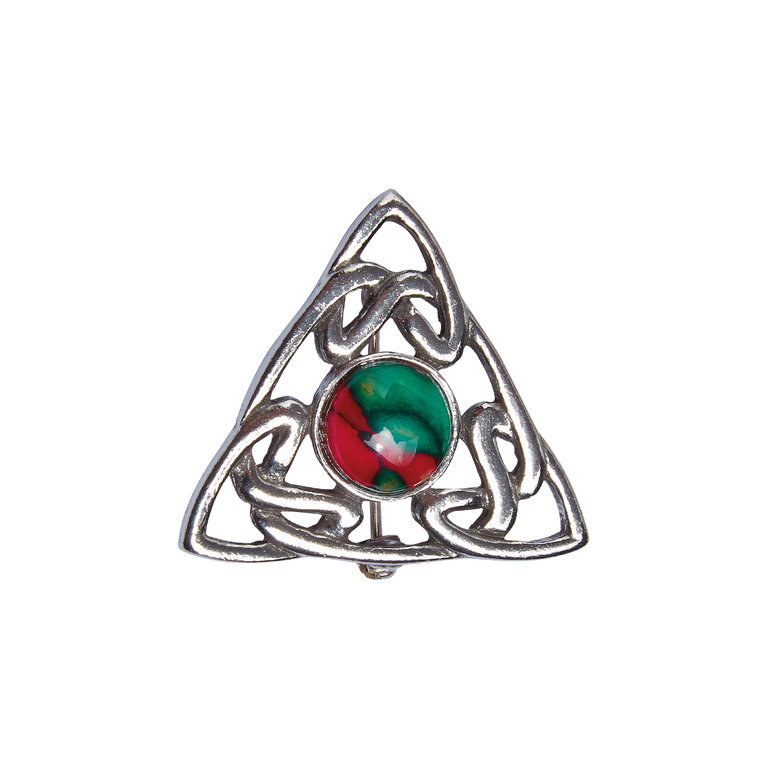 Celtic Triple Knot  Brooch