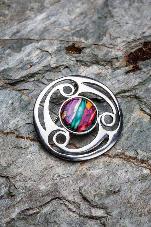 Celtic Triskele Brooch