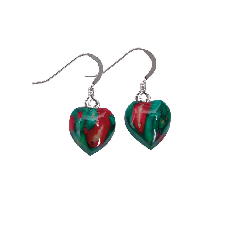 Heart Heather Drop Earrings