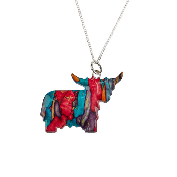 Highland Coo Necklace