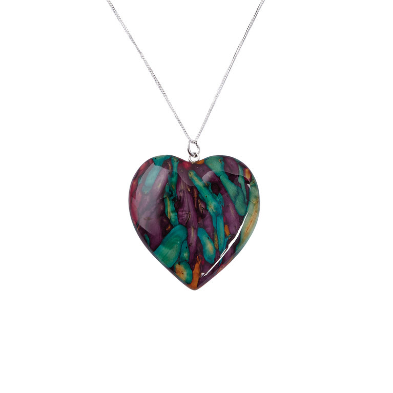 Large Heart Heather Pendant
