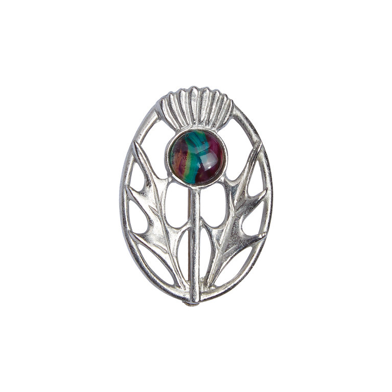 Modern Thistle Brooch
