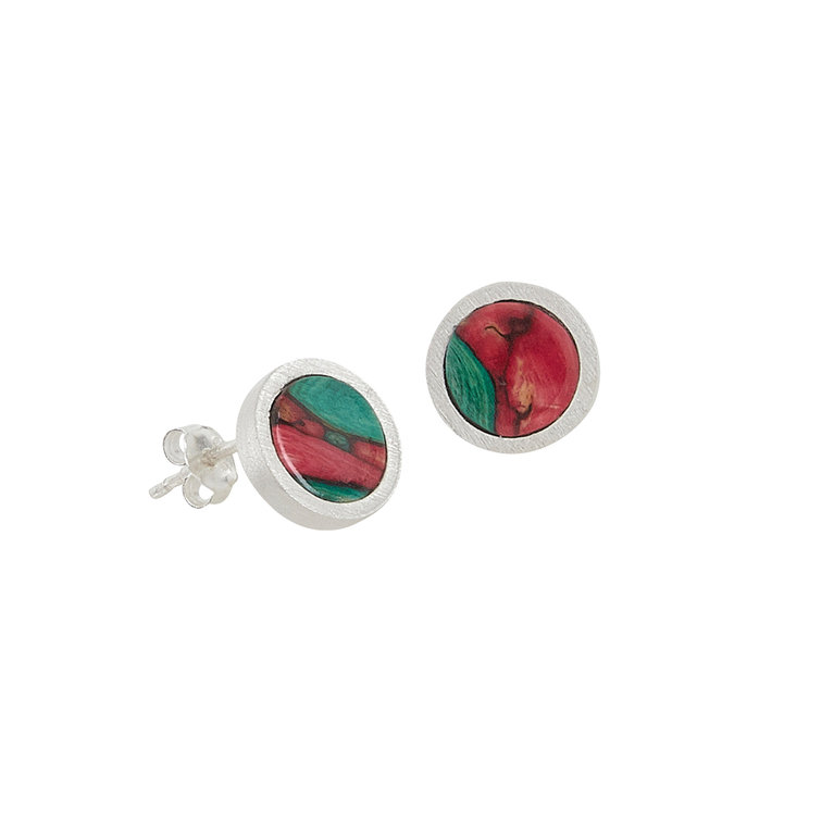 Ness Satin Stud Earrings