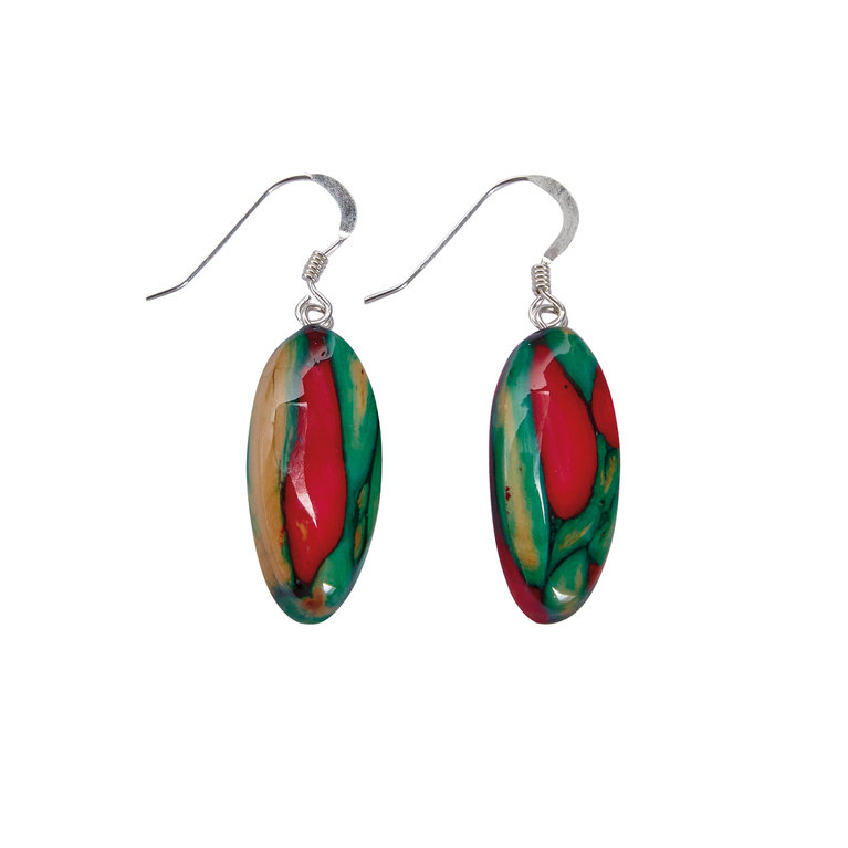 Oval Heather Earrings