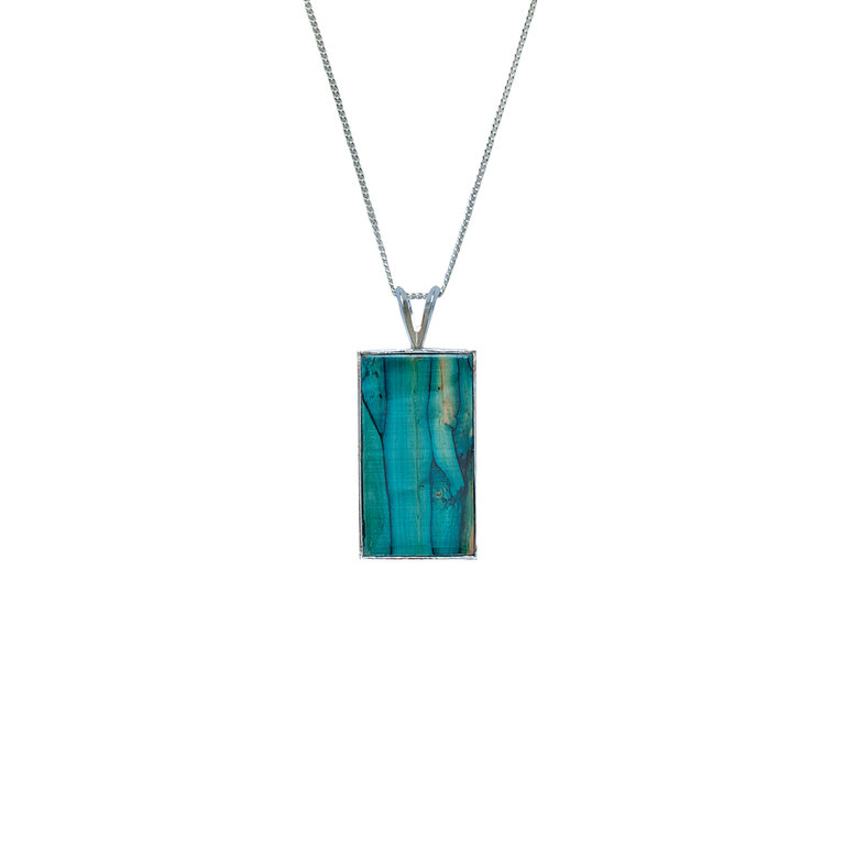 Rectangle Silver Pendant