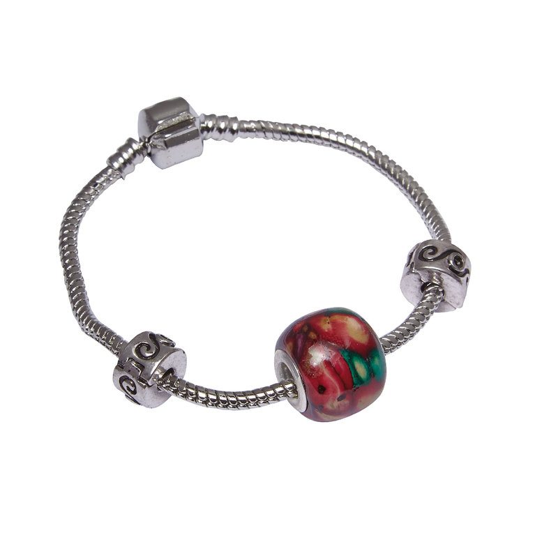 Round Heather Bead Bracelet