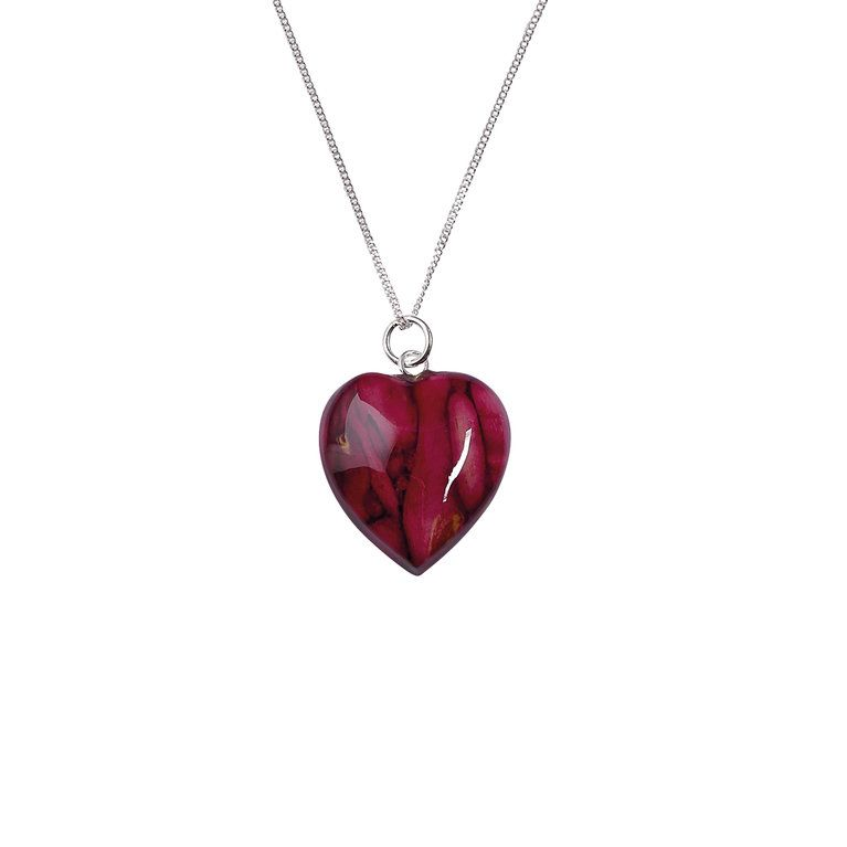 Small Heart Heather Pendant