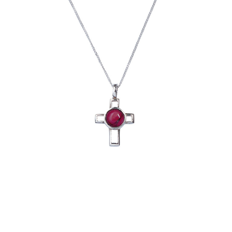 Small Open Cross Silver Pendant