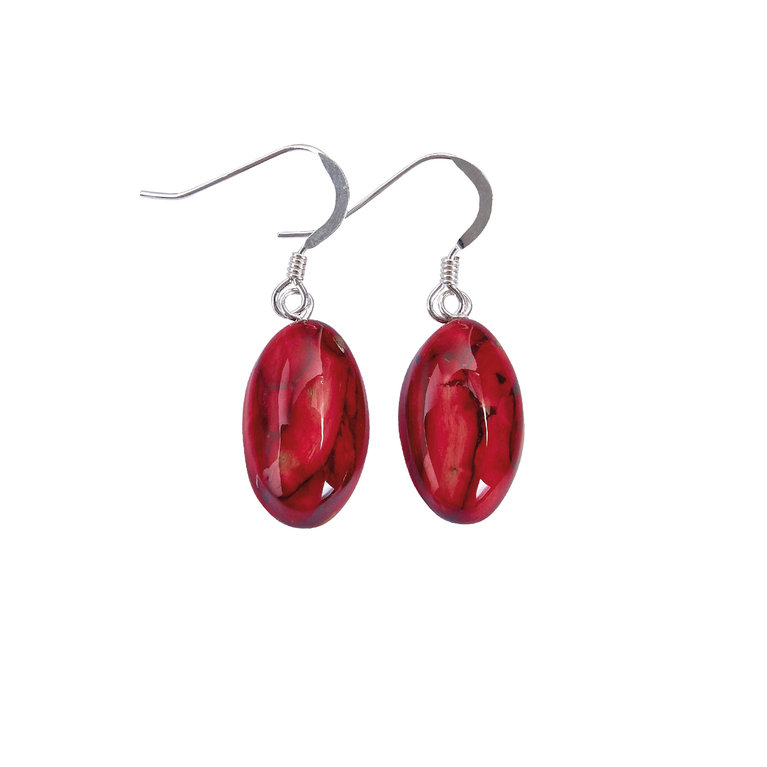 Small Oval Heather Earrings