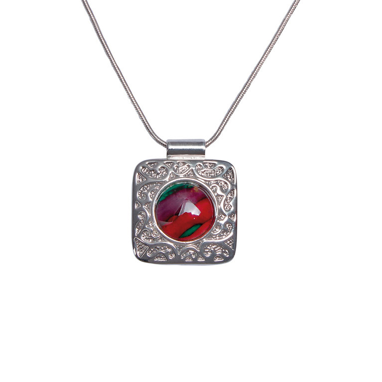 Square Patterned Pendant