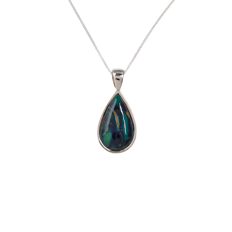 Tear Drop Silver Pendant